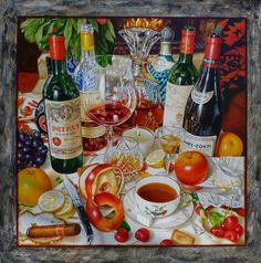 Artist name: Anton Molnar Title: Great Wines Great Times  Medium: Oil on Canvas