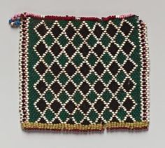 North Nguni peoples Creation Place/Dates: South Africa, 1880-1905 Title: Apron Panel Medium: Glass beads and thread