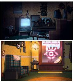 Novos cenários criados para a série Gravity Falls | THECAB - The Concept Art Blog