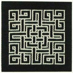 Marijke van Epen - Double faced tablet weaving, each 12 x 12 centimeters