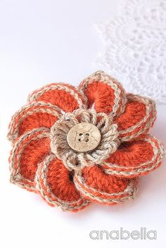 Carlota crochet brooch by Anabelia