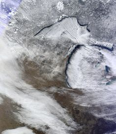 """[1/23/13] Northwest wind lake effect yesterday.  Image courtesy of CIMSS, University of Wisconsin - Madison. """"Michigan's photo.  """"This is pretty much what it looks like from the ground too...at times."""" (courtesy of Erica T. on Facebook) """"In case you don't see it... It's Michigan! And the white is the lower clouds bearing our lovely lake effect snow across the state."""" (via PJ. D.) [https://sphotos-a.xx.fbcdn.net/hphotos-ash3/602849_569109533118942_20484430_n.jpg]"""