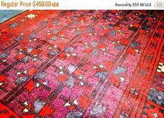 40% OFF SALE Antique Moroccan Nomadic Rug by TEKKARUG on Etsy