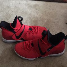 premium selection 58383 ef956 Nike Shoes   Nike Lebron 14-Mens   Color  Black Red   Size  13