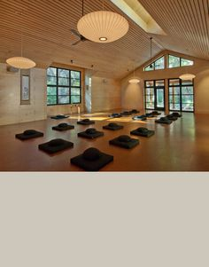 "My yoga novel ""Ashram"" draws on ancient wisdom and practice. Tassajara Zen Center Yoga Studio at dusk Yoga Studio Design, Yoga Studio Home, Pilates Studio, Zen Center, Meditation Center, Meditation Space, Sala Yoga, Yoga Zen, Wellness Studio"