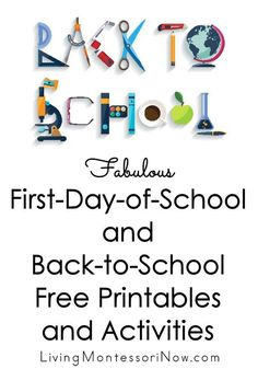 Huge list of back-to-school activities and free printables to help you prepare for the new school year, make the most of the first day of school, and get the school year off to a great start - Living Montessori Now Preschool First Day, September Preschool, First Day Of School Activities, First Day School, Preschool Songs, Free Preschool, Beginning Of School, New School Year, I School