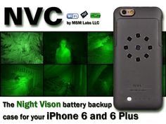 Night Vision smartphone case with external battery and memory slot