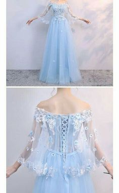Off Shoulder Prom Dresses Sexy Formal Dress Floor Length Prom Dresses Middle Sleeves Sexy Party Dress Custom Made Evening Dress Sexy Formal Dresses, Pretty Dresses, Beautiful Dresses, Awesome Dresses, Fantasy Dress, Sexy Party Dress, Dream Dress, Homecoming Dresses, Ball Gowns
