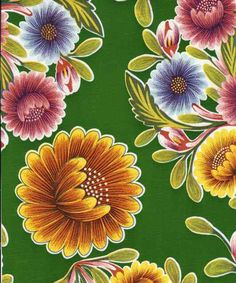 Bloom Green oilcloth