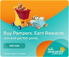 Pampers Rewards; Join Now for 100 Bonus Points!!!  | KouponingWithKatie