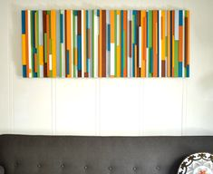 A nice way to bring in custom color in an artful way:  Vintage-style DIY wall art project