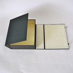 HAKO CHITSU  [ Box Case ]. This style of box provides ideal storage for various sizes and shapes of books and papers. The basic construction is a wraparound enclosure with a 4 sided box.
