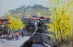봄  watercolor by insung Jung