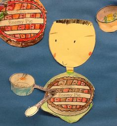 Ingredients to Enemy Pie.being nice and sharing 4th Grade Art, Grade 2, Second Grade, Child Guidance, Guidance Lessons, Enemy Pie Activities, 1st Grade Writing, Reading Day, Mentor Texts