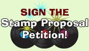Vinyl Record Stamp Petition - Vinyl Record Stamp Petition proposed by non profit Vinyl Record Day to commemorate and preserve the vinyl record's cultural contributions, recordings and album cover art on a postage stamp series.  http://youtu.be/39Unfy4ha4k