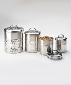 Another great find on #zulily! Stainless Steel Storage Canister Set #zulilyfinds