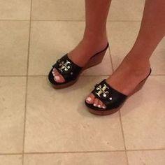 Tory Burch Shoes - Tory Burch Black Patti 3 Wedge Sandals!!