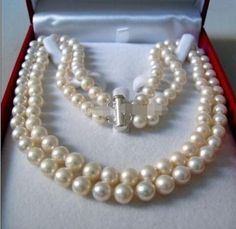 """>> Click to Buy << 2 linhas 8 - 9 MM white AKOYA SALTWATER pearl necklace 17 - 18 """"pearls jewelry making natural stone YE2091 wholesale price #Affiliate"""
