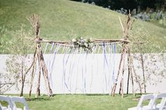Image result for rustic wedding altar