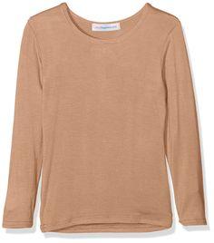 Amazon.com: Kids Plain Top Girls Long Sleeve Tee T Shirt Stretch Fit Teen New: Clothing