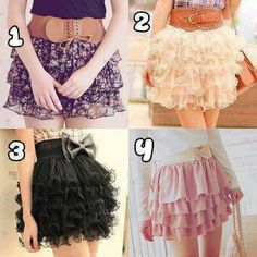 Ruffled tiered skirts with cute statement belts! It's so girly and cute!