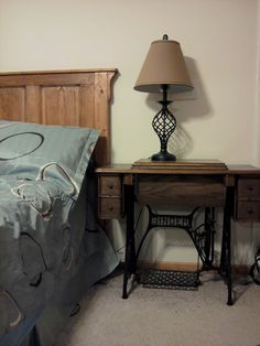 Картинки по запросу Ideas For Alterations Sewing Machine Singer Antique Table As Bedside