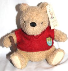 "Disney Classic Winnie the Pooh 7"" Plush 100 Acre Woods Golf Club Sweater Tags"