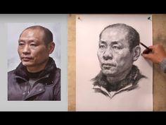 Portrait Drawing Demoration  Middle Aged Men