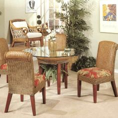 Panama Rattan Wicker Dining Chair Table 5 Piece Set -- Find out more about the great product at the image link.Note:It is affiliate link to Amazon. #commentalways