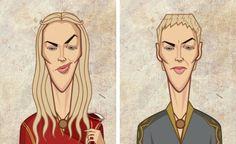 Les personnages de Game of Thrones Avant/Après  : Cersei Lannister