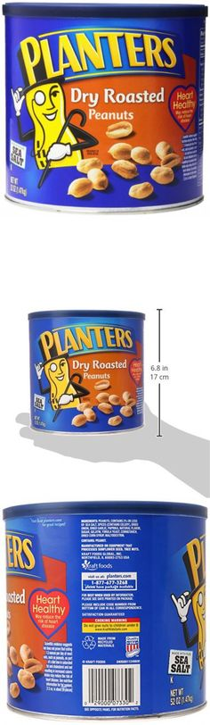 Planters Peanuts, Dry Roasted & Salted, 52 Ounce Canister