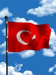 Flag Gif, Republic Of Turkey, Turkish People, Sky Sea, Pierre Cardin, Emoji, Cool Designs, Wallpaper, Homeland