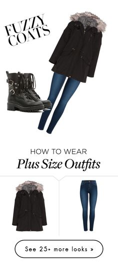 """""""fuzzy coats"""" by kaiya-bear on Polyvore featuring Pieces, Mat and RED Valentino"""