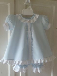 Vintage inspired baby dress and bloomers; adorable!