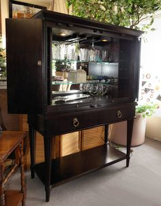 BERNHARDT CONTEMPORARY LIGHTED BAR CABINET