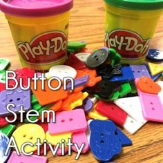 I saw this fun Button Stem activity while looking for some STEM activities for my kids and knew I had to give it a try! First, we read Pete the Cat and his Four Groovy Buttons. I usually teach subtrac Steam Activities, Activities For Kids, Sequencing Activities, Pete The Cat Buttons, Kindergarten Stem, Stem Classes, Stem Challenges, Preschool Science, Camping
