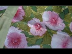 silk painting without using gutta - YouTube