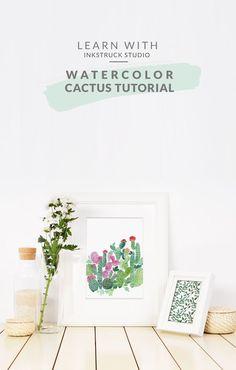Watercolor cactus pa