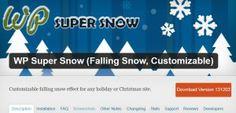 Add Holiday Snow to your WordPress website!  3 free plugins here: http://www.websitecreationworkshop.com/blog/wordpress-tips/add-holiday-snow-to-your-website/