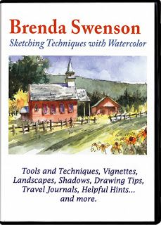 Brenda Swenson: Sketching Technique with Watercolor, DVD