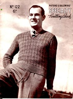 Patons Knitting for Men Vintage Knitting  Book by jennylouvintage