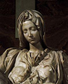 Pieta (detail) 3 by Michelangelo Buonarroti, 1499