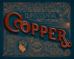 Copper Lettering Typography in Lettering