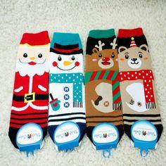 New Unisex Christmas X-mas Santa Snowman Bear Characters Cotton Socks_4options…