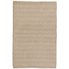 Make neutral spaces pop with this graphic, eco-friendly indoor/outdoor rug in a goes-with-anything brown and ivory diamond pattern. Mix and match with our  Blue Heron  and  Ranch Stripe indoor/outdoor rugs.