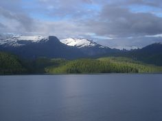 I did this yesterday in the clouds and mist: Inside Passage Cruise, BC Ferries, BC, Canada