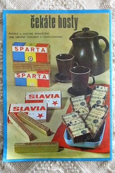 Tatranky Wafers Advertisement 1975 Czechoslovakia Lovosice