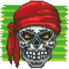 Make this fierce pirate skull for a scary Halloween decoration at your door, party table, or trunk-or-treat event.