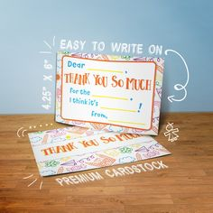 Kids Fill in the Blank Thank You Cards