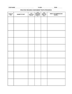 WORD version: Students can use this log to chart their progress on standardized practice tests (or any assessments). Can be edited to fit your needs.